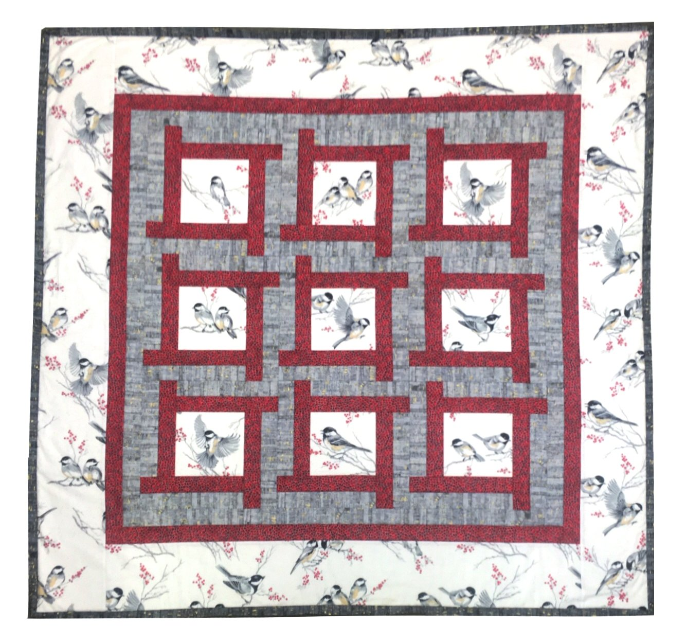 Chickadee Puzzle Box Quilt Kit