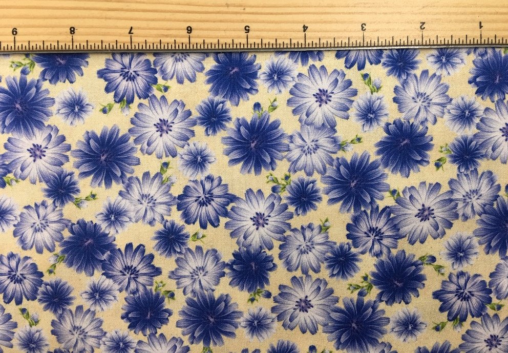 Robert Kaufman | Wildflowers of Maine - Maine Shop Hop Fabric - CHICORY - AVAILABLE NOW