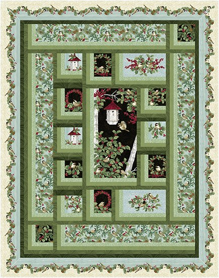 Free Pattern:  Chirp by Jackie Robinson, featuring Festive Chickadees