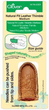 Clover Natural Fit Leather Thimble Medium 6029