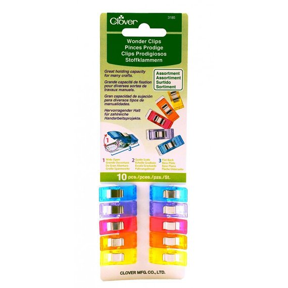 Clover Wonder Clips 10-count Assorted Colors