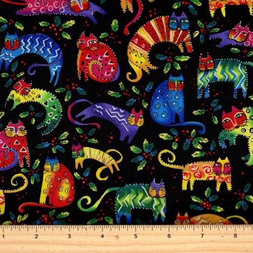 Clothworks Enchantment Cats Y1963-3M Black