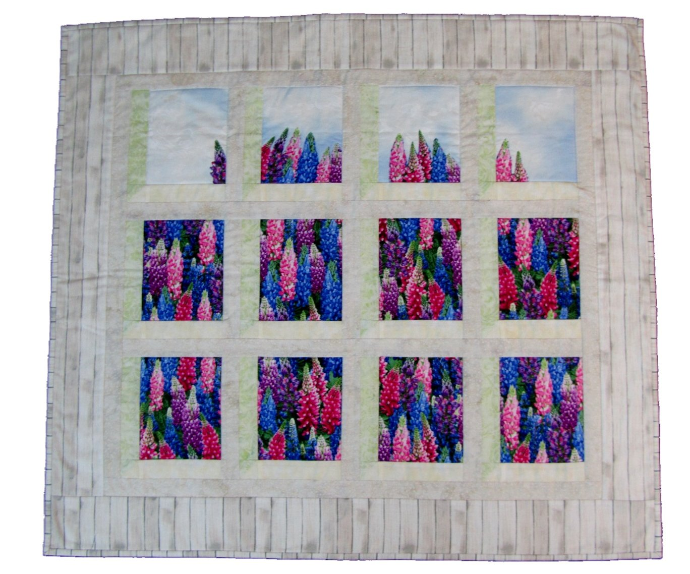 The Fabric Garden Cottage View Wall Hanging Pattern - Create Your Own Fabric Window