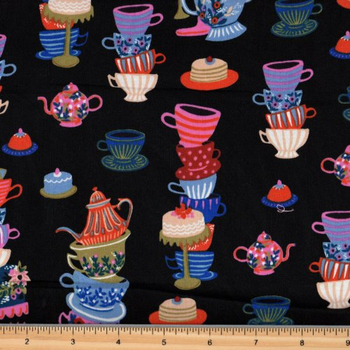 Cotton + Steel Rifle Paper Co Wonderland Teacups 8018 1