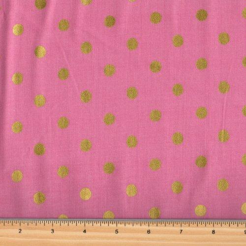 Cotton + Steel Rifle Paper Co Wonderland Pink Gold 8023 1