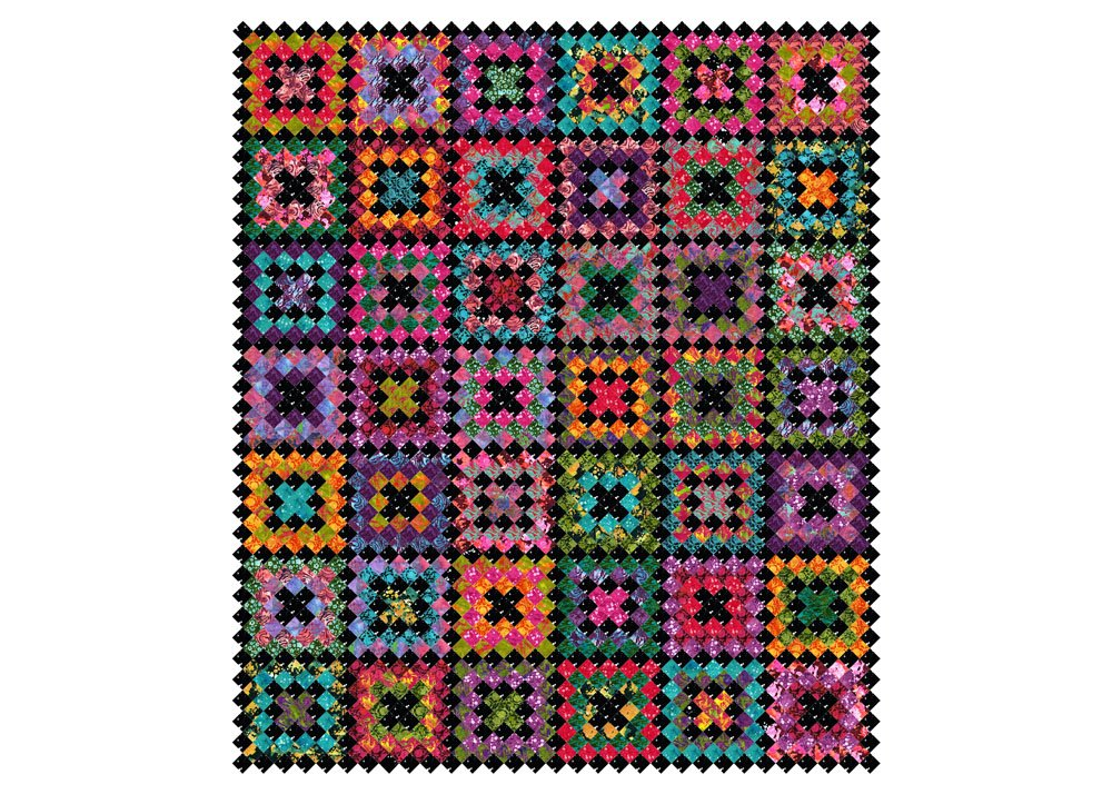 Free Pattern:  RJR Blossom Batiks - Crocheted Kisses