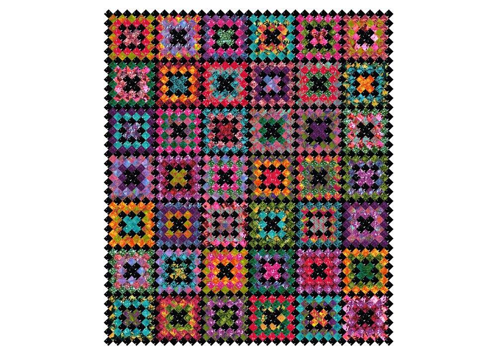 Free Pattern:  RJR Blossom Batiks - Crocheted Kisses