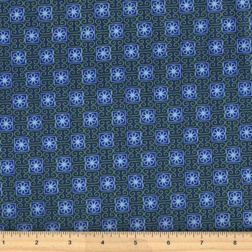 Clothworks Stonewall Bloom Y1597-92 Dark Royal Blue