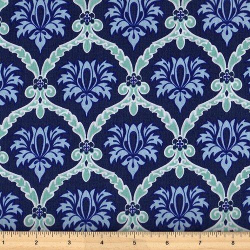 Clothworks Stonewall Bloom Y1598-93 Light Navy