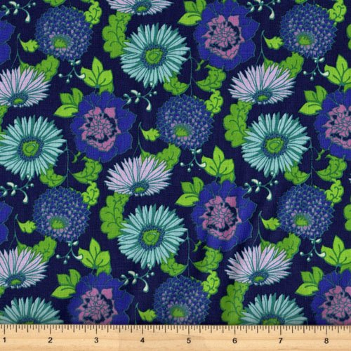 Clothworks Stonewall Bloom Y1599-93 Light Navy