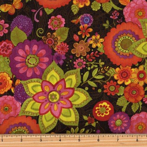 Clothworks Spice Garden by Sue Zipkin - Large Floral Y2043-15