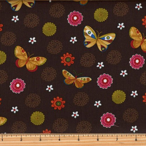Clothworks Spice Garden by Sue Zipkin - Butterfly Floral Y2044-15