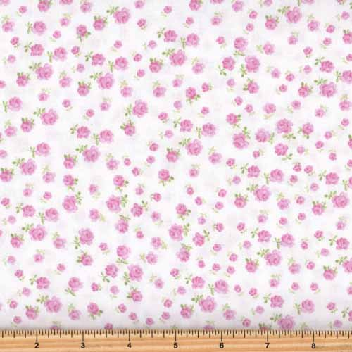 Clothworks Fidelia Y2077-41 Light Pink Floral