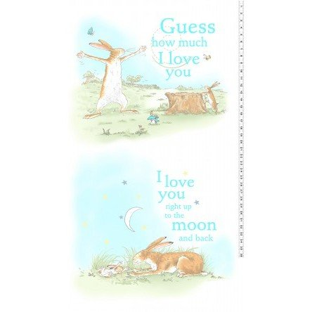 Clothworks - Guess How Much I Love You 2018 PANEL Y2516-1
