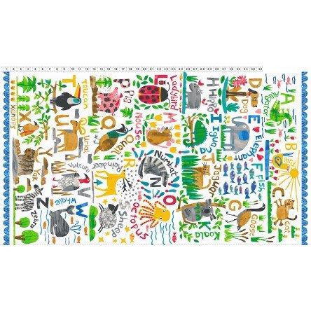 Clothworks Animal Magic Alphabet Panel 24 Y2890-55