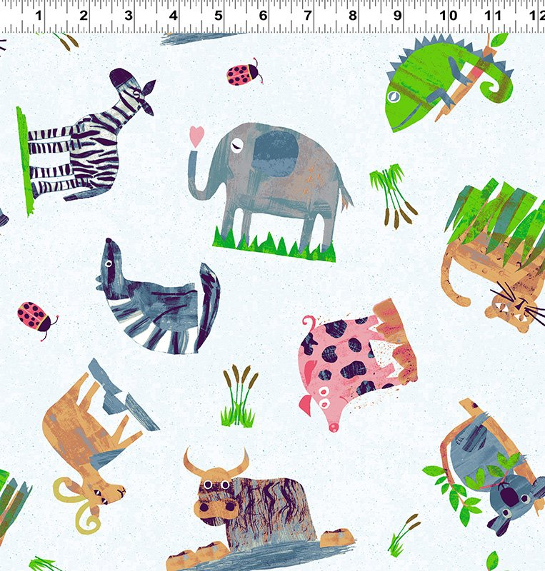 Clothworks Animal Magic Y2892-6 Dogs & Cats by Tracey English