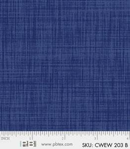 P&B Color Weave 108in Wide Back CWEW203B Blue