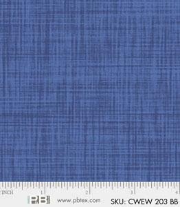 P&B Color Weave 108in Wide Back Blue CWEW 203 BB