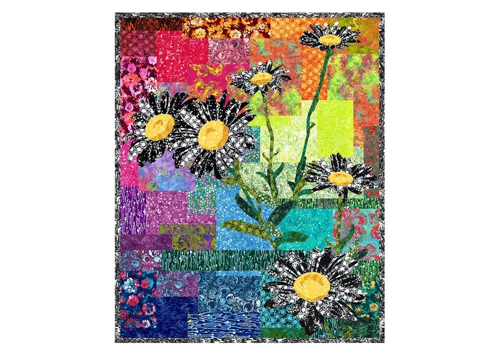 Free Pattern:  RJR Blossom Batiks - DAISY DAYDREAM QUILT