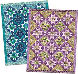 Free Pattern:  Dance of the Dragonfly fabrics - DAZZLING DRAGONFLIES