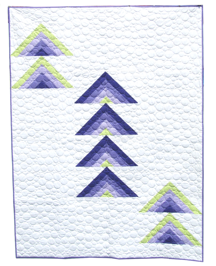 Deconstructed Lupine - Quilt Kit 57 x 75