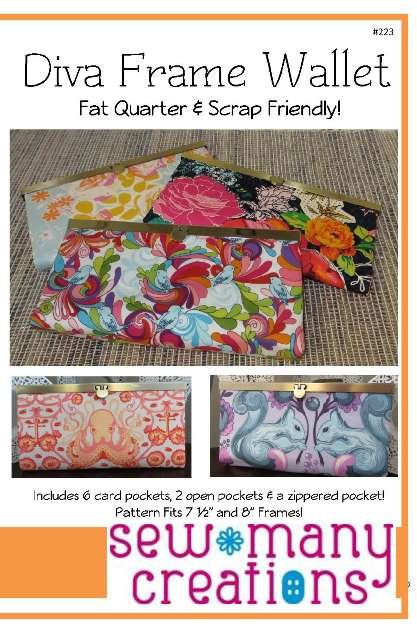Sew Many Creations -Diva Frame Wallet Pattern
