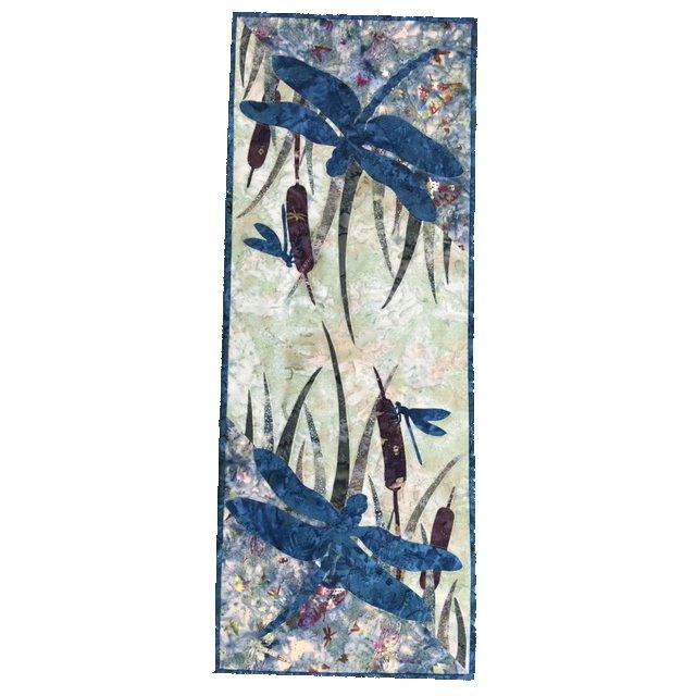 Dragonfly Wall Hanging Kit - includes Batik Fabrics & Pattern