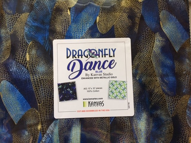 Dragonfly Dance - Pack of 42 10 squares  FBL10PK - Blue-Violet-Green