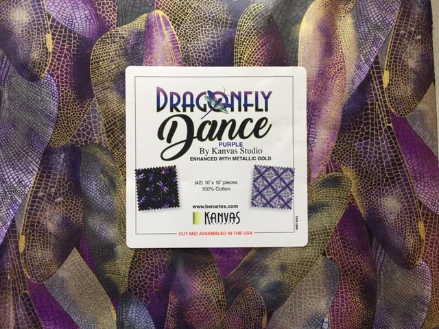 Dragonfly Dance - Pack of 42 10 squares  FPR10PK - Midnight/ Navy/Purple