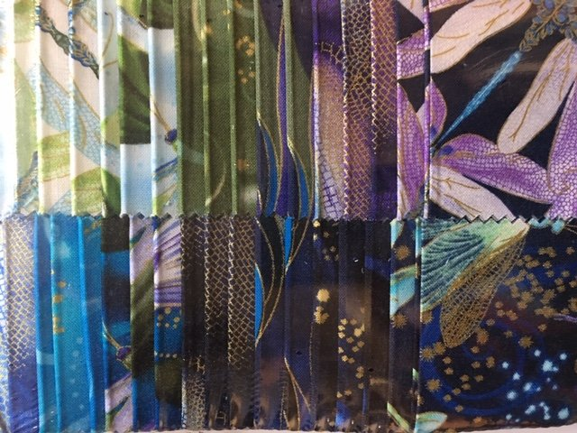 Dragonfly Dance - 40 Pack of 2 1/2 Strip-pies Strips -Blue-Violet-Green