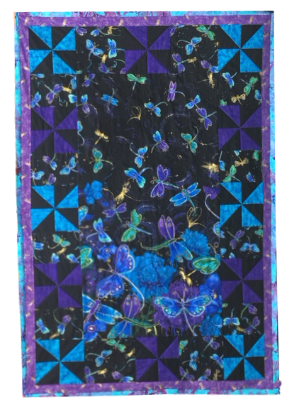 Dragonfly Quilt Kit featuring Night Dragonflies by Chong-A-Hwang for Timeless