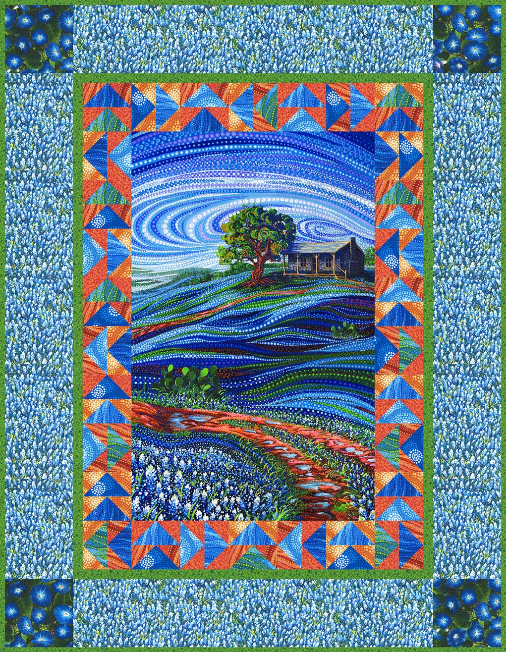 Free Pattern: Bluebonnet Path by Ira Kennedy - with Dreamscapes from  Moda