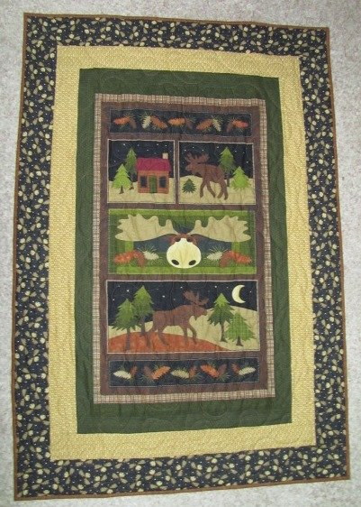 Easy Panel Quilt Kit: Moose On The Loose