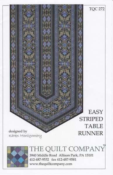 Easy Striped Table Runner Pattern for use with Border Stripe fabrics