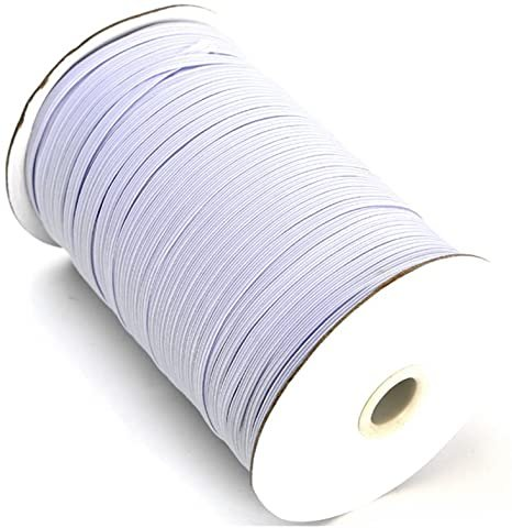 Elastic 1/4 White - Spool - 220 yards