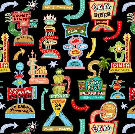 Elizabeth's Studio Barbara's Diner 3108 Black  Retro