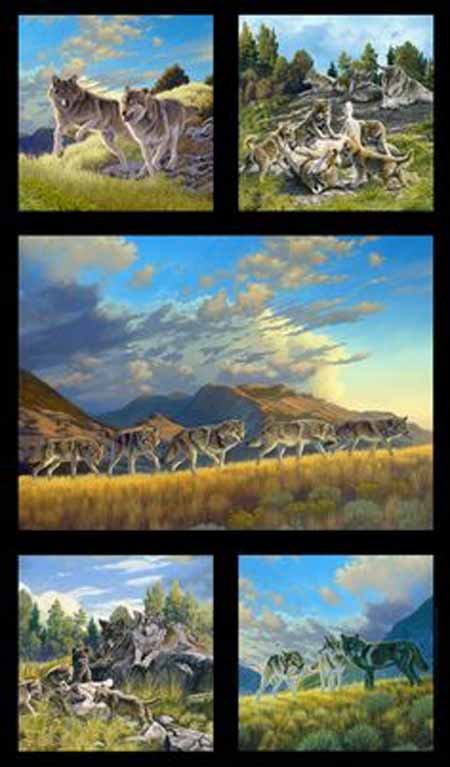 Elizabeth's Studio North American Wildlife 5017 Black Panel
