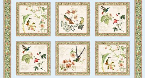 Elizabeths Studio - Hummingbirds In Style M9000 Panel