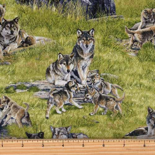 Elizabeth's Studio North American Wildlife Wolf 5018 Green
