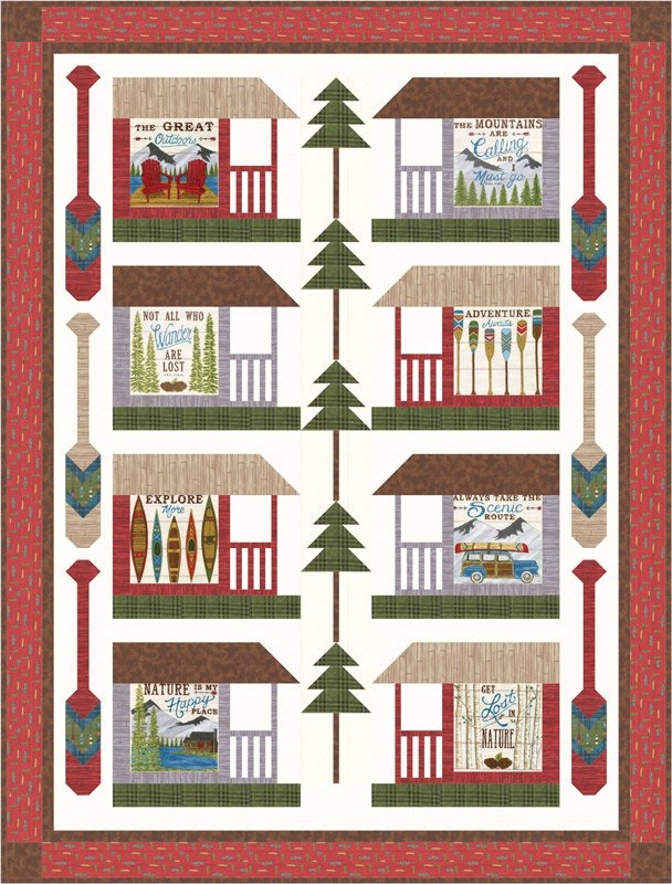 Moda- The Great Outdoors Quilt Kit 19910 56 x 74 feat. Explore by Deb Strain