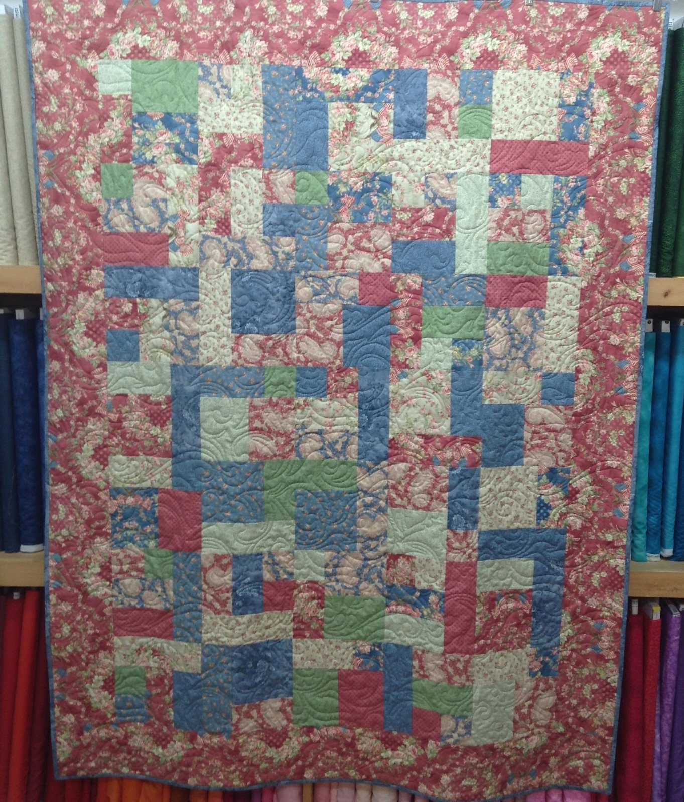 Quilt for Sale:  featuring Faded Glory fabrics by Robyn Pandolph  55 x 73