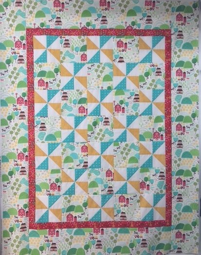 Childrens Quilt Kit - Farm Fun Barnyard Quilt 45x57