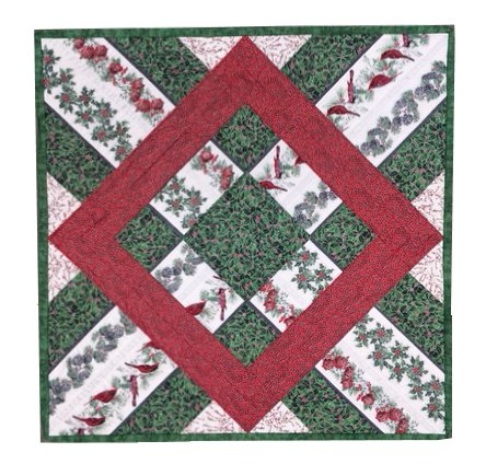 Festive Cardinals:  Kit to Make Wall Hanging / Table Topper