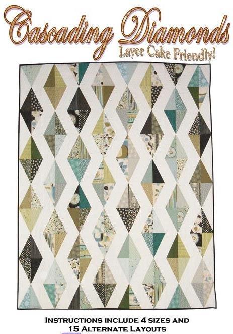 The Fabric Garden - Cascading Diamonds Quilt Pattern