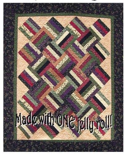 The Fabric Garden - Jelly Rail  Quilt Pattern