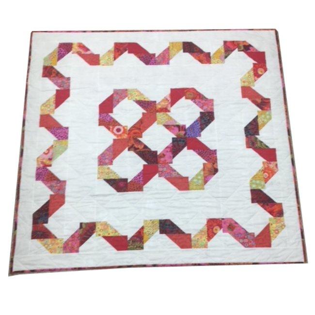Quilt for Sale: Finley's Fence feat. Kaffe Fassett fabrics