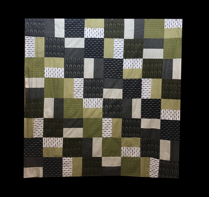 For Sale:  Pieced Flannel Quilt Top 63x60