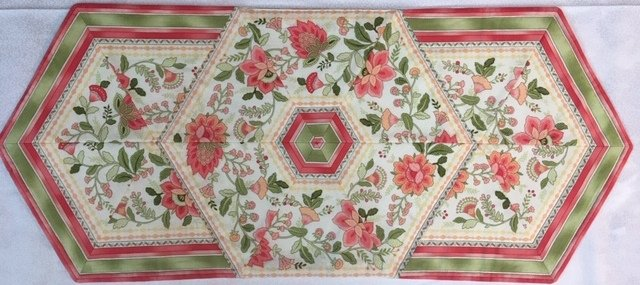 Sample for Sale:  Floral Stripe Table Runner