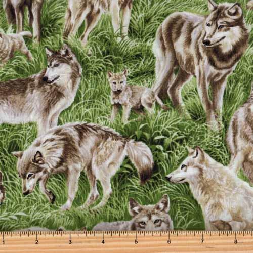 Fabri-Quilt-112-29481-American-Wildlife-Wolf