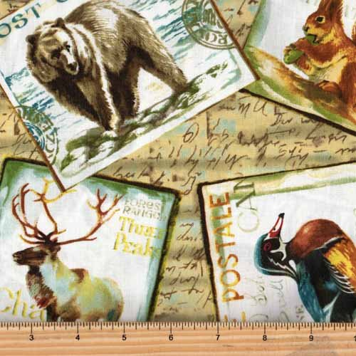Fabri-Quilt Fall Retreat Wildlife Postcards 112-30231